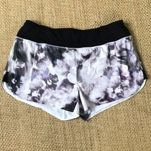 Athleta Watercolor Print Shorts with Liner Size XL